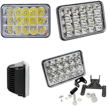 ECAHAYAKU 2x 7Inch 45W LED Worklight Square Lamp Low/Hight Beam And Headlight shell Mounting Bracket for Car Off road SUV