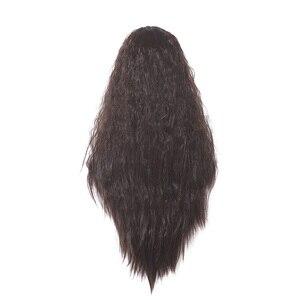 Image 4 - L email peluca Moana para Cosplay, peluca de Cosplay de princesa, rizado largo, marrón oscuro, cabello sintético resistente al calor para Halloween