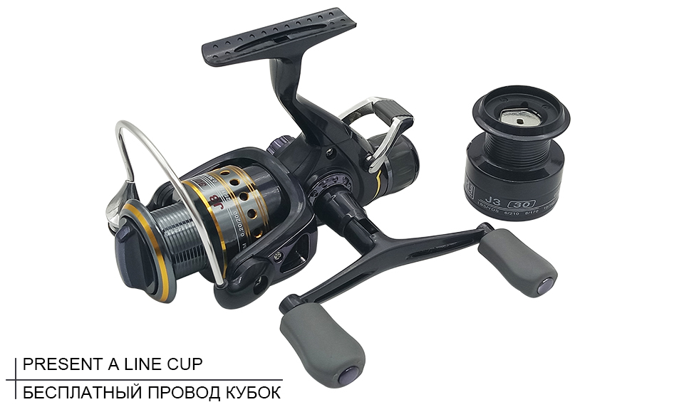K8356 5.51 9+1BB Dual Brake Saltwater Fishing Reel Metal Spool Sea Boat Spinning Carp Fishing Reels With Extra Spool 3000-5000_08
