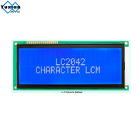Free Shipping 2004 LCD 20x4 LCD Display With Russian Cyrillic Font Big Character Size BLUE Screen