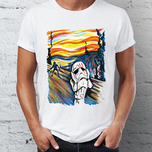 fcc07c62 Men's T Shirt Star Wars the Traitor Stormtrooper The Scream Parody Funny  Awesome Tee
