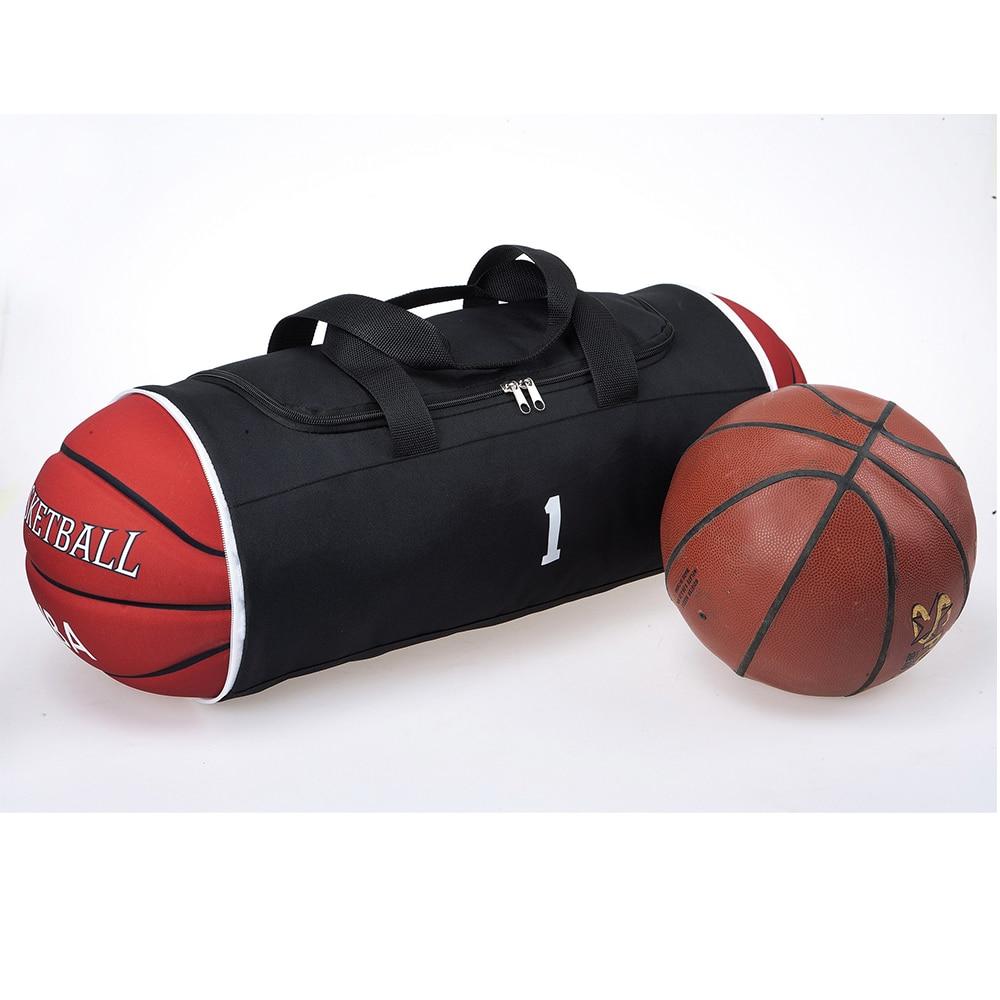 Висока якість Тканина Оксфорд Сумочка Чоловіча Портативна Дорожня сумка Duffle Прохолодний Баскетбол Дизайн Діяльність у вихідні