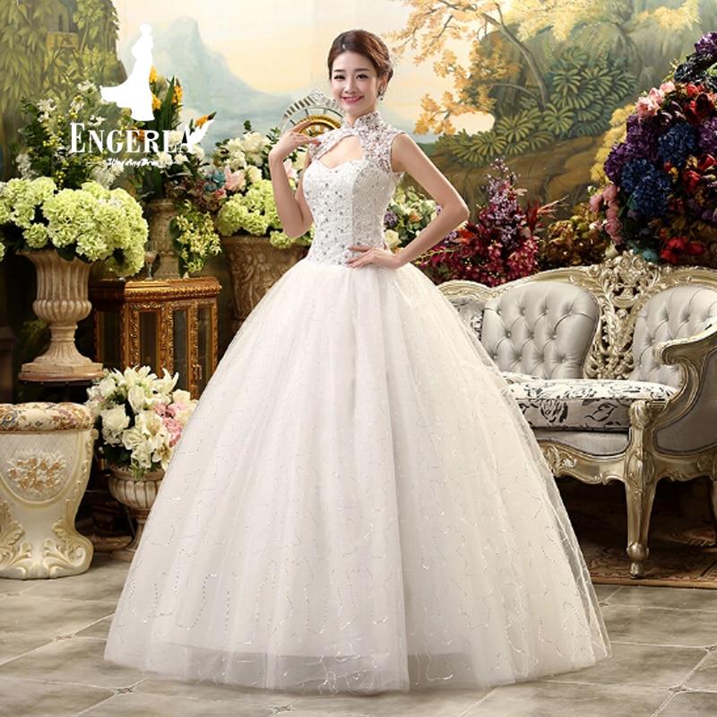 lamya fashion lace bride gown unique jack top high neck design shining sequined vintage wedding dress