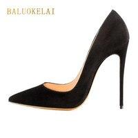 Stilettos Black Shoes Woman High Heels Sexy Women Pumps 12CM High Heel Sexy Women Shoes High