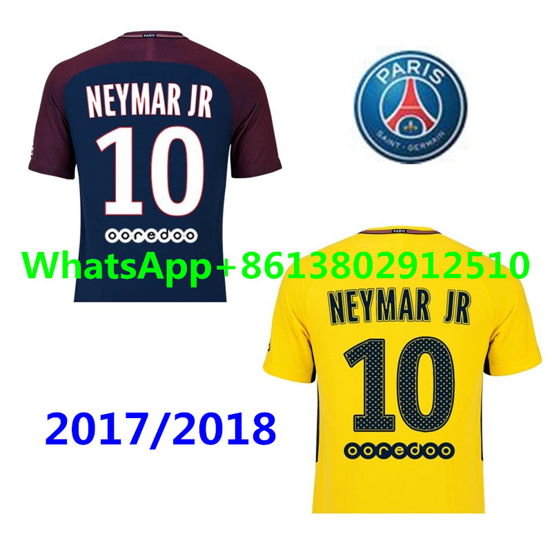 adult t shirt 2017 psg thai aaa top quality football jerseys qualit men soccer jersey