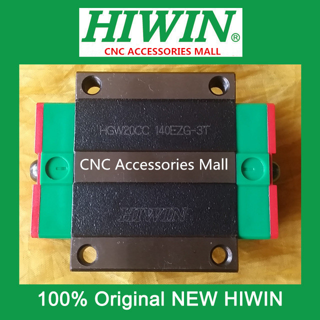 6pcs Original HIWIN linear guide flange bearing slider block HGW20CC Carriage for HGR20 linear guide rail