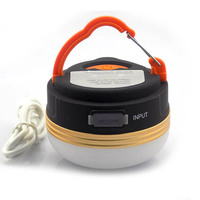 USB Rechargeable Portable LED Camping Lantern Tent Light 300 Lumens Ultra Bright Power Source Charger For