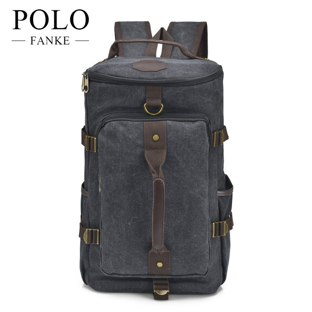 FANKE POLO New Vintage Large Rucksack Canvas Backpack Leisure Travel  Schoolbag Unisex Laptop Backpacks Men Backpack Male FB1046 9675a4b322332