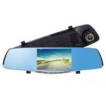 Cheaper 5 inch Car DVR with ADAS Mirror Video Recorder Camcorder Car Rearview Mirror Camera 2 Lens Front Rear 1080P G-sensor Registrar