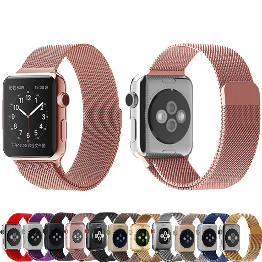 Milanese loop for apple watch band strap 42mm 38mm iwatch series 3/2/1 band Stainless Steel metal Bracelet wrist belt watchband milanese loop watch band strap for apple watch 38mm 42mm bracelet belt stainless steel mesh watchband for iwatch series 1 2