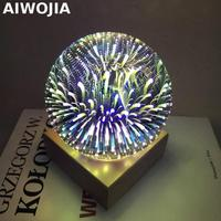 3D magic glass table lamp Luminaria De Mesa Usb Led Light 3d Light Fixtures Novelty Luminaria Led Led Night Light Kids Lamp