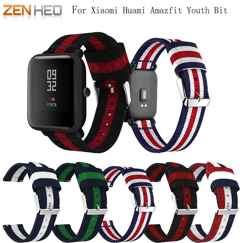 ZENHEO Nylon-Strap Smart-Watch-Band Huami Amazfit Xiaomi for Bip-Bit Pace-Lite Youth