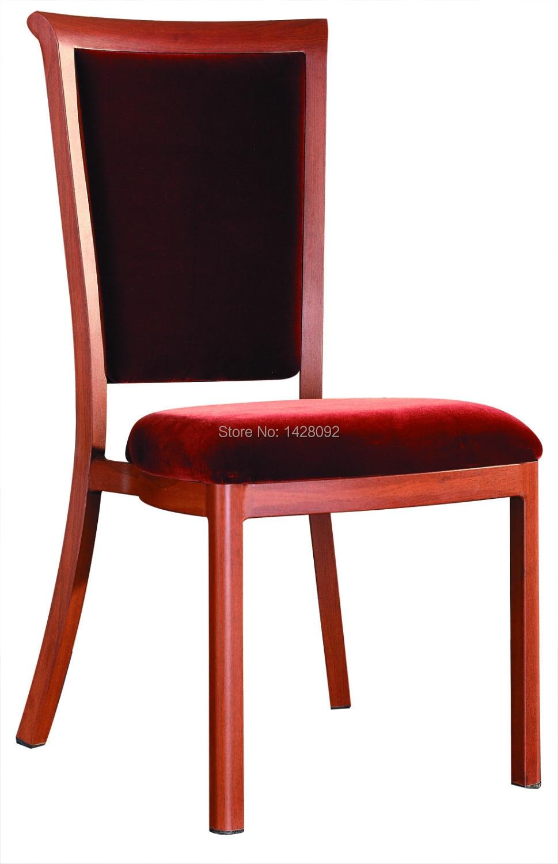 Wholesale Quality Luxury Strong  Woodgrain Aluminum Restaurant Chairs LQ-L801
