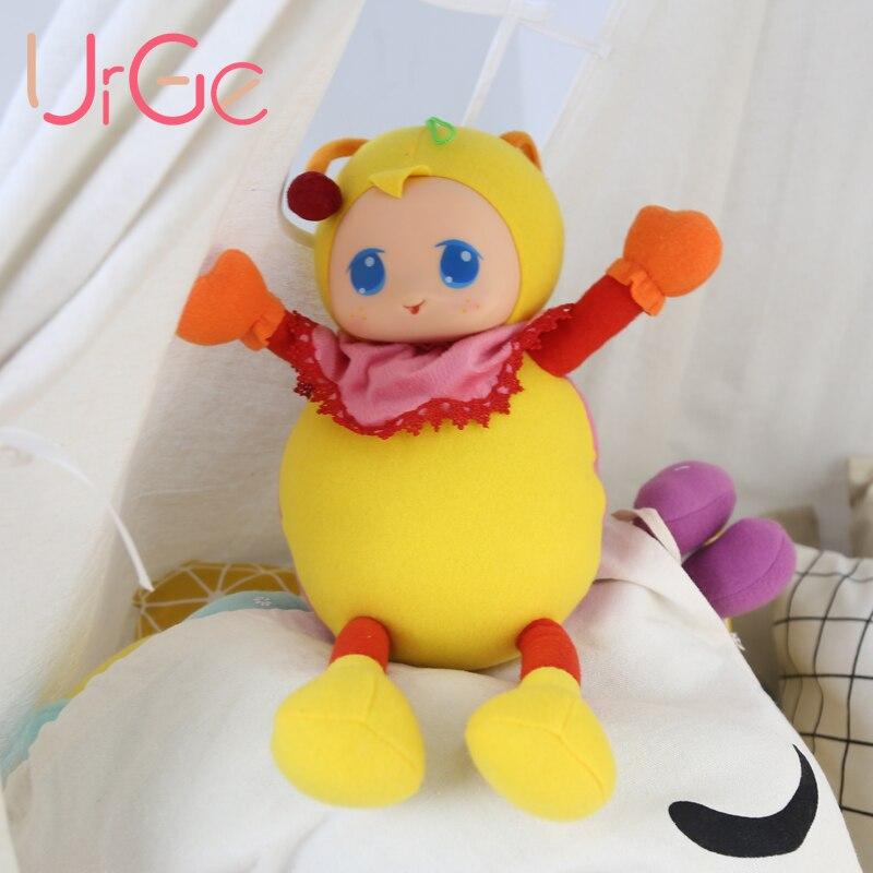 Kawaii anime en peluche Cartoon beetle jaune poupée animaux en peluche bébé apaiser poupées jouets pour enfants fille cadeau d'anniversaire de Noël