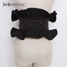 TWOTWINSTYLE New Fashion Cummerbunds Belt For Women Clothes Accessorie