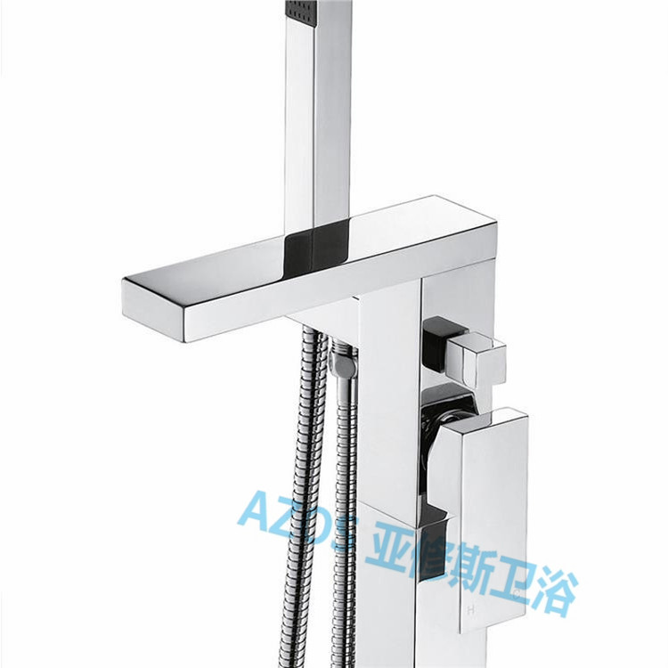Bathtub Faucets Modern Chrome Copper Water Mixers Floor Stand Hand Hold  Bathroom Shower Sauna Kit LDTZ007 In Shower Faucets From Home Improvement  On ...