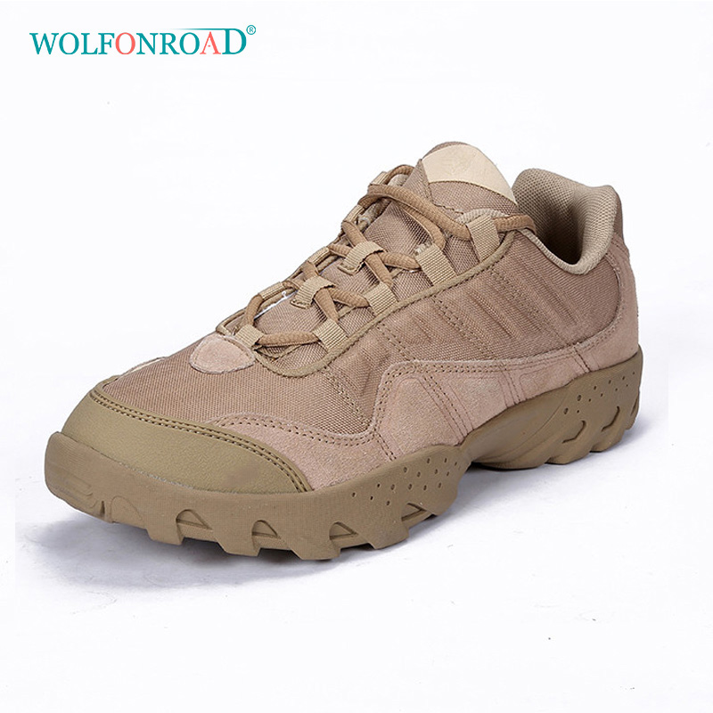WOLFONROAD Outdoor Men s Hiking Shoes Sport Man Camping Sneakers Trekking Men Shoes Leather Tactical Military