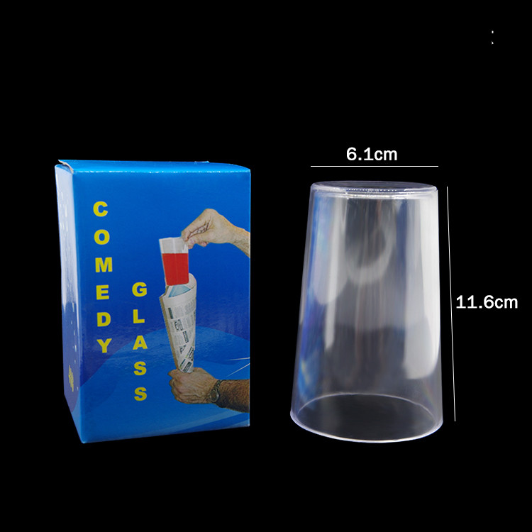 Comedy Glass In Paper Cone - Magic Tricks Comedy Stage Gimmick Accessories Mentalism Funny Illusion Magic Props image