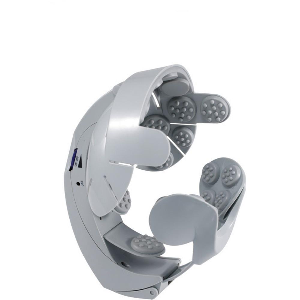 Elektrische Kopf Vibration Massage Instrument Einfach-gehirn Akupunktur Punkte Massage Langsam Release Spannung Akupunkturpunkt Therapie Maschine