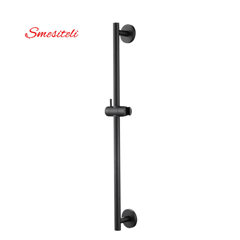 Smesiteli Wholesale And Promotions All Solid Brass Chrome Or Matte Black Slide Bar + Handheld Shower Bracket Height Adjustable smesiteli new wholesale modern simple