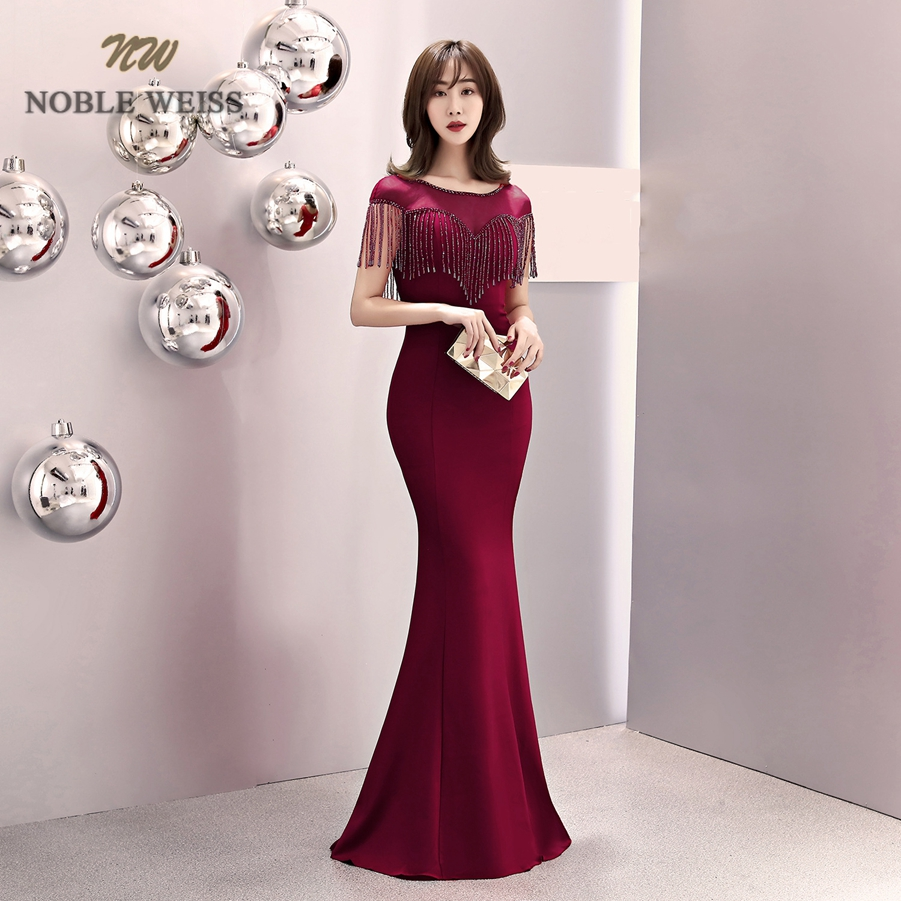 prom dresses 2019 black red mermaid prom dress sexy vestidos de gala beaded o neck prom