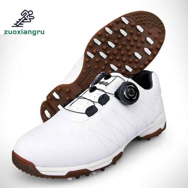 גולף נעלי נשים נעלי ספורט עמיד למים סופר אור נגד החלקה נוח לנשימה מיובא מיקרופייבר עור גולף נעליים