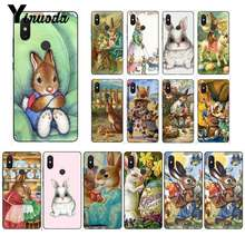 Yinuoda Cute rabbit Pattern Soft Silicon Black Phone Case for Xiaomi Mi 6 Mix2 Mix2S Note3 8 8SE Redmi 5 5Plus Note4 4X Note5(China)
