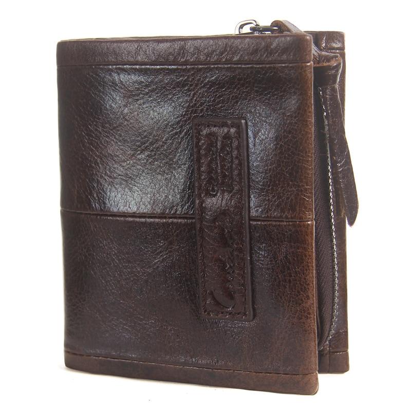 GENMEO Vintage Real Leather Short Wallet for Men