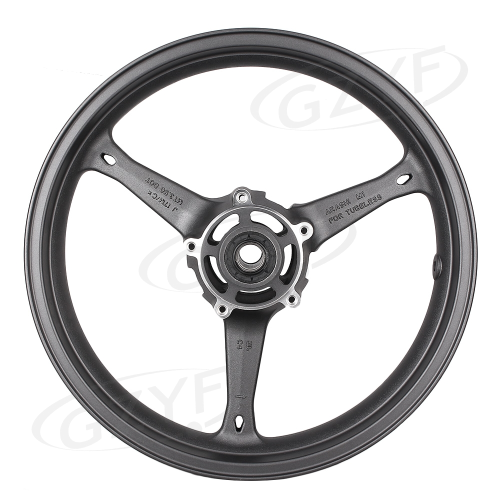 Matte Front Alloy Wheel Rim For Suzuki 2006 2007 GSXR 600 750 K6 & 2005 2008 GXS R 1000 K5 K7, Motorcycle Accessories