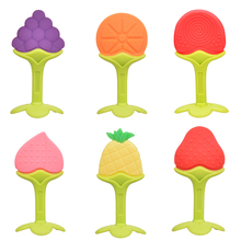 Baby Teether Food Grade Silicone Fruit Teethers for Kids Infant Chew Tooth Toys Dental Care Strengthening Training