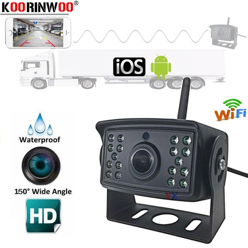 Koorinwoo WiFi Car Back Camera 1080P Waterproof Rear View Vehicle Camera 130 Wide Angle Night Vision