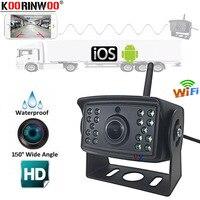 Koorinwoo WiFi Car Back Camera 1080P Waterproof Rear View Vehicle Camera 130 Wide Angle Night Vision Backup Parking Dash Cam