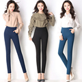 Повседневные брюки Весна и Осень высокой талией брюки карандаш для женщины офис ПР стиль рабочая одежда узкие брюки женский старинные брюки