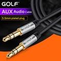Golf 3.5mm macho para macho cabo de áudio para ipod carro MP3 Fone De Ouvido Batidas Speaker Stereo AUX Auxiliar Prolongado Cabo Jack dispositivo