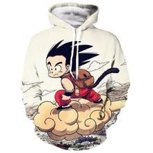 classic Anime Dragon Ball Z Pocket Hooded Sweatshirts Cute Kid Goku Funny 3D print Hoodies Men Women Long Sleeve Outerwear