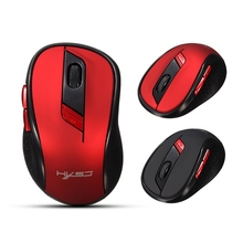 Portable Optical Wireless Mouse USB 2.4G Computer Mouse 1000-2400DPI 6 Buttons Gaming Mouse PC Mice for Laptop Desktop Gamer