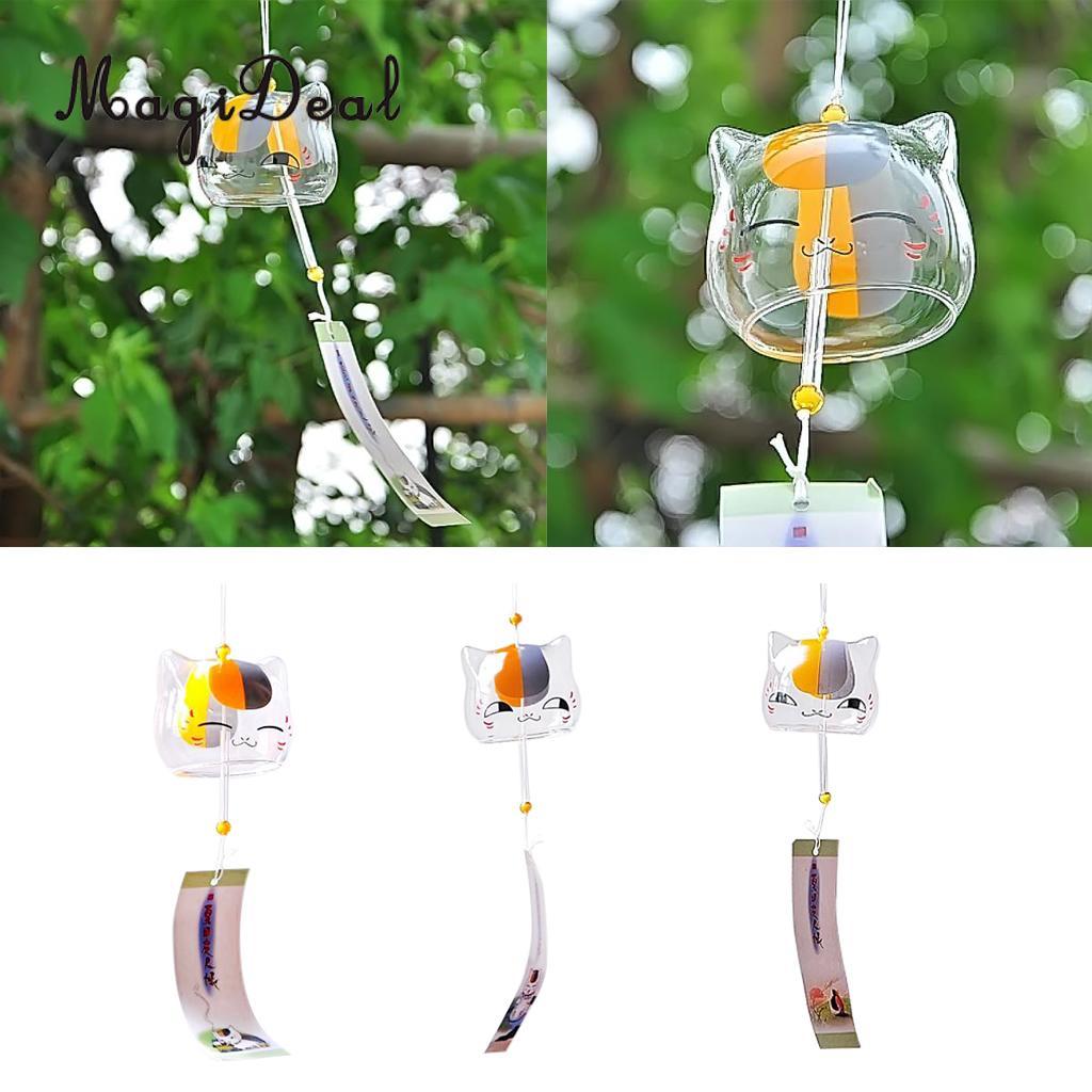 3pcs Japanese Style Glass Bell Furin Wind Chime Cherry Blossom Sakura Pattern