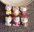 Hello Kitty Keychain Cartoon Pink Cat Key Chain Ring Cute Anime Keyring Girls Key Charm Ceramics Key Holder 2016 New Wholesale