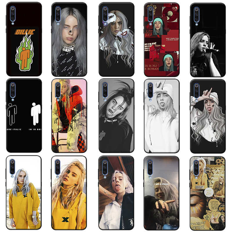 Music Singer Star Billie Eilish  rainbow blohsh Soft Silicone Phone Case for samsung galaxy a50  a70 a30 a40 a20 s8  s9 s10 plus