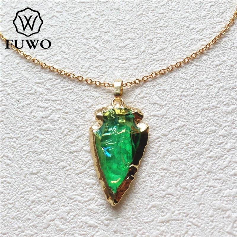 Smokey Aura Green Quartz Pendant Necklace