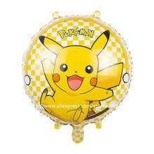 1pcs Pikachu Pokemon Balloons Foil Globos Kids Toys yellow Helium Balloons Party Supplies Mobile games Toys Pokemon Animation