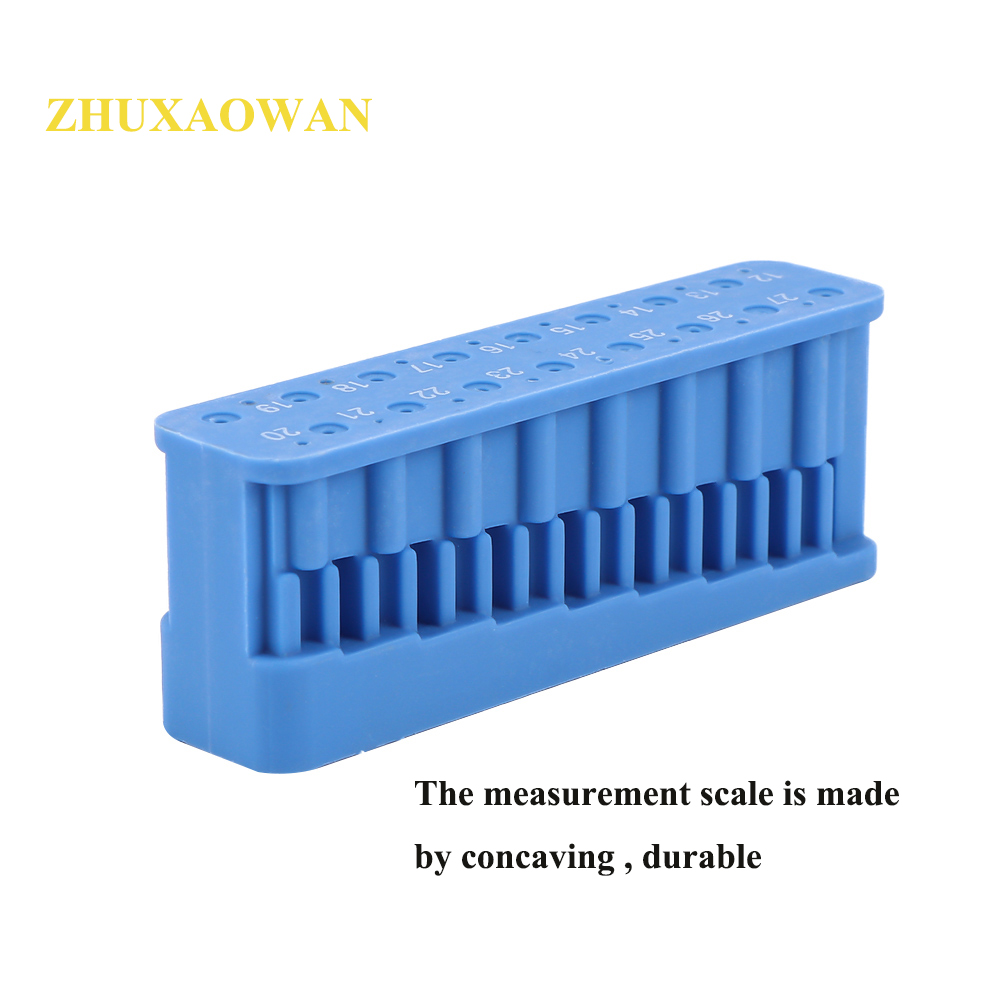 1PC Plastic Dental Mini Endo Measuring Autoclavable Endodontic Block Files Dentist Instrument Ruler Blue Universal 88*20*34mm