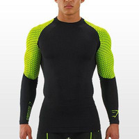 Men S Compression Tights T Shirt Jogges Bicycle Fitness Tees Long Sleeve Moisture Wicking Quick Drying