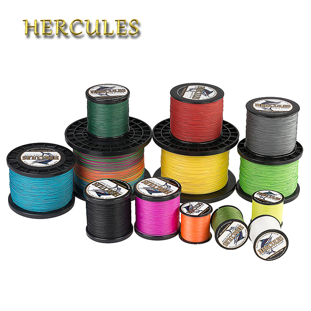 Hercules Big Game Fishing Line 2000M PE Braided Wire 10 200LB Extreme Strong Cord 8 Strands