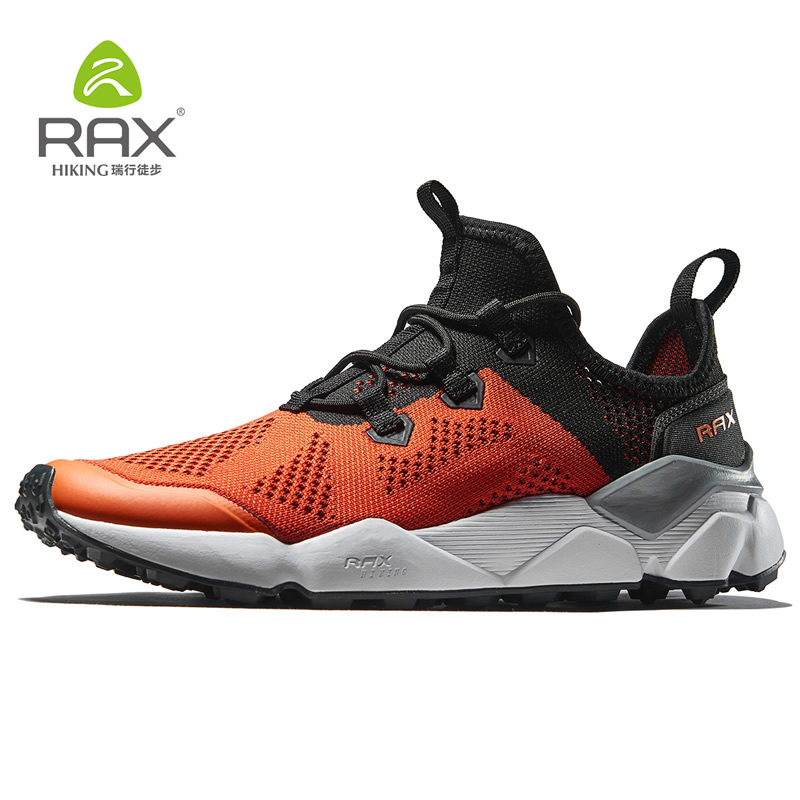 Rax Men's Outdoor Running Shoes Zapatos Breathable Air Mesh Lightweight Gym Running Sports Sneakers Women Tourism 5C458 summer breathable air cushion fly line sports women running shoes shock absorption increase tourism shoes spring female sneakers