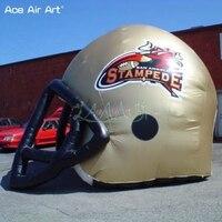 Мобильный и весело разработан Надувные Газон Футбол Спорт Шлем тоннелей, открытый регби команды шлем модель для спортивной события