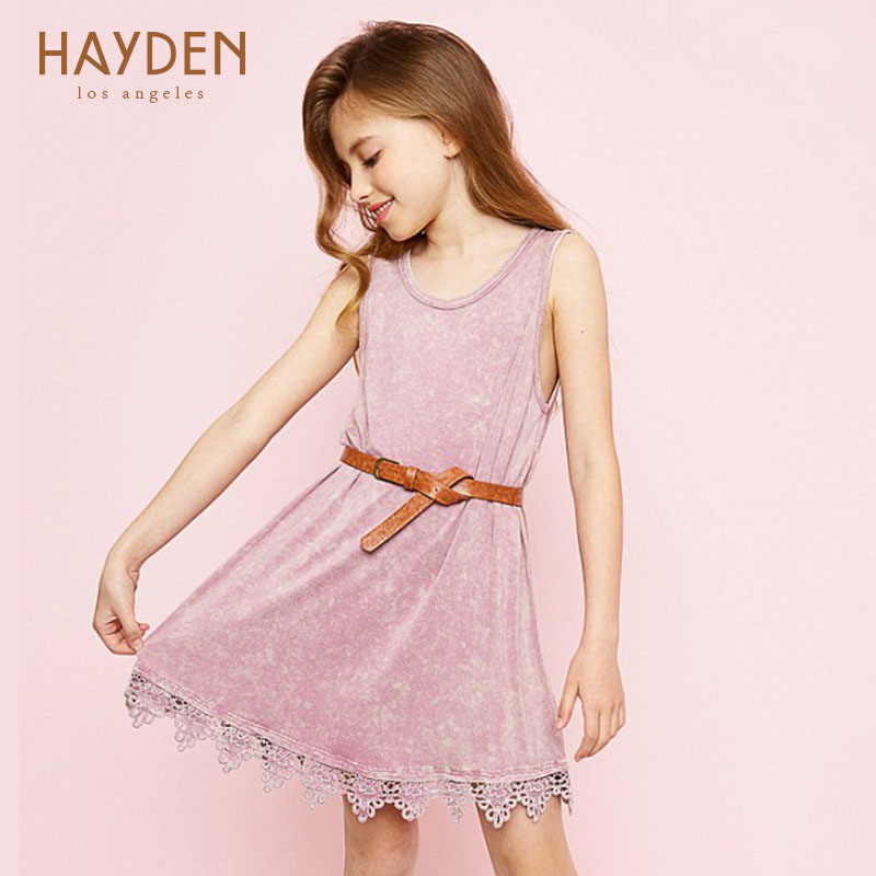 HAYDEN girls party dress lace evening costumes 7 8 9 10 years teenage girls clothing summer sundress children girls kids clothes купить