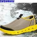 Moda verão malha aqua sapatos homens sapatos casuais caminhadas senderismo upstream andando formadores sapatos de água de secagem rápida homens 256 v