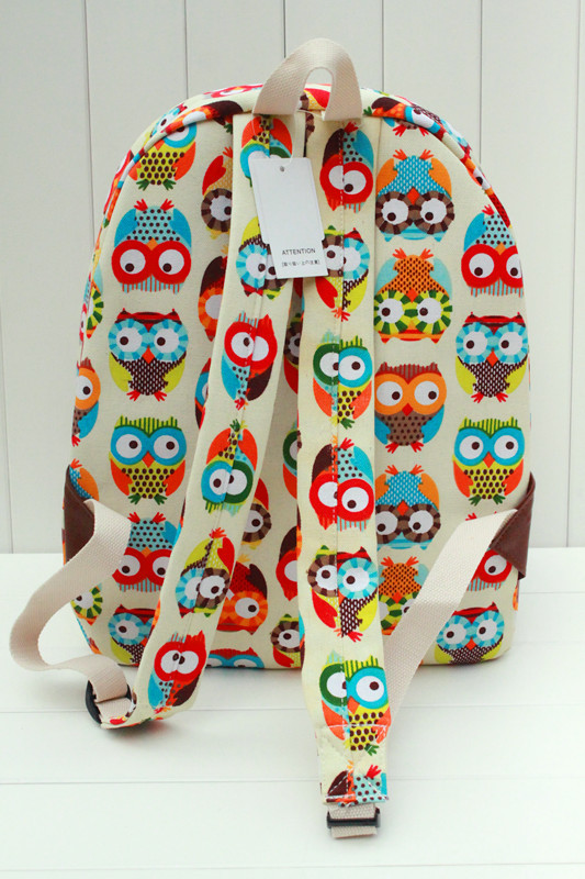 online shop new owl printing backpack children women travel bags girl brand shoulder bags canvas school backpack mochila feminina aliexpress mobile - Printing With Children