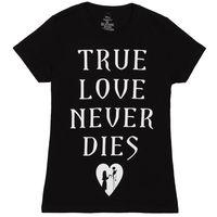 Nightmare Before Christmas True Love Never Dies Women S Junior T Shirt Black T Shirts Clothing